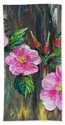 Wild Roses 09 Beach Towel