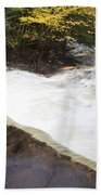 Wilderness Waterfall Autumn Stream Beach Towel