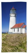 Wildflowers And Cape Blanco Lighthouse Beach Towel