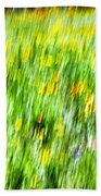 Wildflowers And Wind Beach Towel