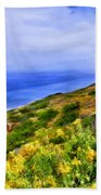 Wildflowers At Point Loma Beach Towel