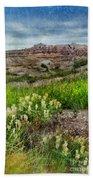Wildflowers In Badlands Beach Towel
