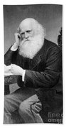 William Cullen Bryant, American Poet Beach Towel by Photo Researchers