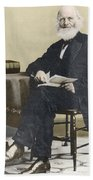 William Cullen Bryant, American Poet Beach Towel by Science Source