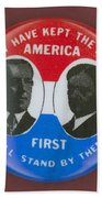 Wilson Campaign Button Beach Towel