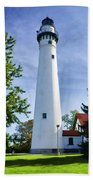 Wind Point Lighthouse Beach Towel