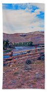 Wind River And Horses Beach Towel
