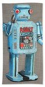 Wind-up Robot 2 Beach Towel