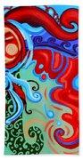 Winding Sun Beach Towel by Genevieve Esson