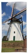Windmill And Blue Sky Beach Towel