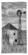 Windmill And Shack Beach Towel
