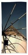 windmill Greece Beach Towel by Joana Kruse