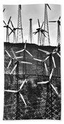 Windmills By Tehachapi  Beach Towel by Susanne Van Hulst