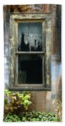 Window In Old Wall Beach Towel by Jill Battaglia