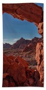 Window On The Valley Of Fire Beach Towel