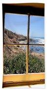 Window View 2 Beach Towel