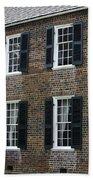 Windows At The Clover Hill Tavern Appomattox Virginia Beach Towel