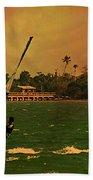 Windsurfer In Paradise Beach Towel