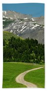 Windy Road To The Crazy Mountains Beach Towel