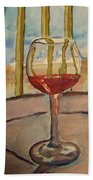 Wine By The Water Beach Towel