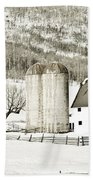 Winter Barn 3 Beach Towel