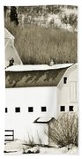 Winter Barn 4 Beach Towel