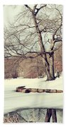 Winter Day In The Park Beach Towel