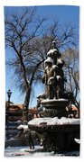 Winter In Cathedral Park Santa Fe Beach Towel