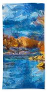 Winter In Salida -- Renoir Beach Towel