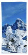 Winter In The Tetons Beach Towel