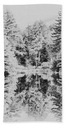 Winter Lake Beach Towel
