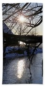 Winter Lake Beach Towel