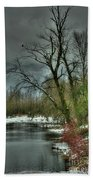 Winter On The Nicomen Slough Beach Towel