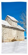 Winter Smoke House Beach Towel