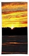 Winter Sunset I Beach Towel
