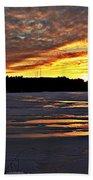 Winter Sunset Iv Beach Towel