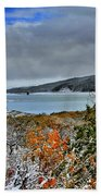 Wintry Dusting Beach Towel