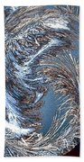 Wintry Pine Needles Beach Towel