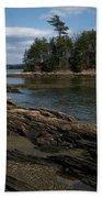Wolfs Neck State Park Beach Towel