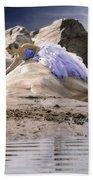 Woman On A Rock Beach Towel