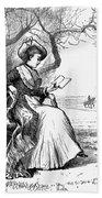 Woman Reading, 1876 Beach Towel
