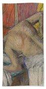 Woman Washing Her Back Beach Towel by Edgar Degas