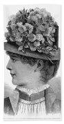 Womans Hat, 1883 Beach Towel