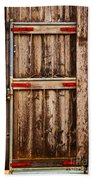 Wood Fence Door Beach Towel