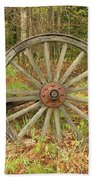 Wood Spoked Wheel Beach Towel