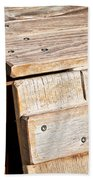Wooden Crate Beach Towel by Tom Gowanlock