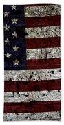 Wooden Textured Usa Flag2 Beach Towel