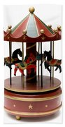 Wooden Toy Carousel Beach Towel