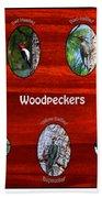 Woodpeckers Beach Towel
