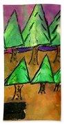 Woods Cut Logs And A Sunset Beach Towel